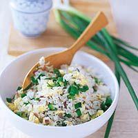 Recept - Gebakken rijst met bosui en koriander - Allerhande