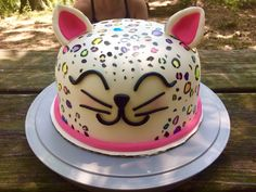 Leopard Birthday Cake Rainbow Leopard Print Cake Cakes Ive Made Pinter… Cheetah Birthday Cakes, Cheetah Cakes, Leopard Cake, Birthday Cake For Cat, Homemade Birthday Cakes, Adult Birthday Cakes, First Birthday Cakes, Leopard Print Cakes, Leopard Birthday Parties