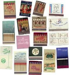 My grandmother has a huge collection of matchbooks...I kinda wish she'd give it to me...