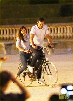 Jamie Dornan & Dakota Johnson Film 'Fifty Shades' on Bicycles! | dakota johnson jamie dornan bikes fifty shades 03 - Photo