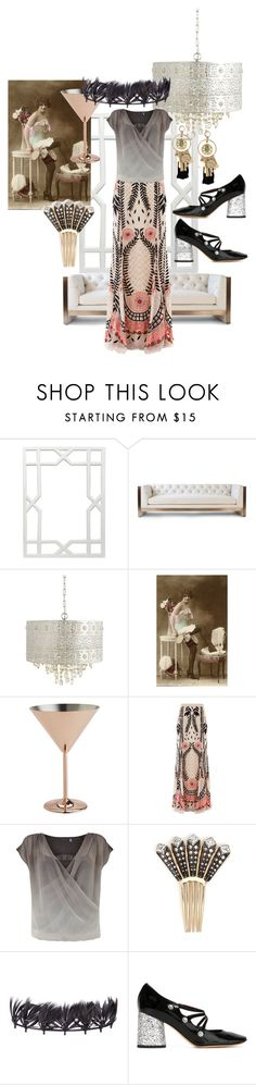 """""""the great gatsby:cocktail party"""" by lexiitaly ❤ liked on Polyvore featuring Worlds Away, Vesper Dresses, Pier 1 Imports, LG, Temperley London, Mint Velvet, Lulu Frost, Valentino, Marc by Marc Jacobs and Oscar de la Renta"""