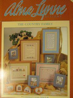"1989 ALMA LYNN ""THE COUNTRY FAMILY"" CROSS STITCH CHART #ALX-81"