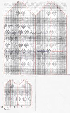 Anita Hedman – Dela dina vantar! Knitting Charts, Baby Knitting, Knitting Patterns, Crochet Patterns, Knitting Ideas, Knitted Mittens Pattern, Knit Mittens, Knitted Hats, Diagram Chart