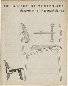 "secretempires: "" The cover of the Fall 1946 @MuseumModernArt Bulletin (Vol XIV, No. 1), featuring an #Eames DCM & LCW. """