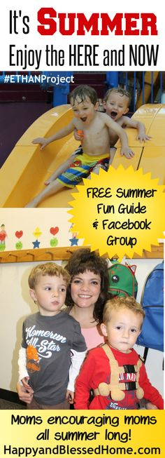 Its Summer! Enjoy the Here and Now - free PDF summer planner and Facebook Group to share inspiring summer fun with other moms - details on HappyandBlessedHome.com | Summer Fun | Summer Planning Guide | Encouraging Moms | Fun Summer Kid's Activities | FREE Community for Moms