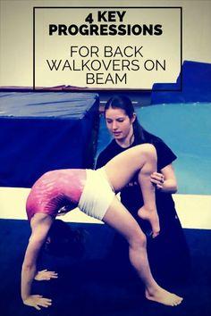 4 progressions for bridges and walkovers on beam Gymnastics At Home, Gymnastics Levels, Gymnastics Lessons, Gymnastics Routines, Gymnastics Tricks, Gymnastics Hair, Gymnastics Flexibility, Basketball Tricks, Gymnastics Coaching