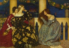 "Painting by Frank Cadogan Cowper, signed  F.C. Cowper and dated 1909 (lower right); inscribed Venetian Ladies Listening to ""The Serenade"" on the Grand Canal / painted 1908-1909 / by F. Cadogan Cowper (on a label on the reverse)"
