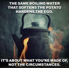 The same boiling water...