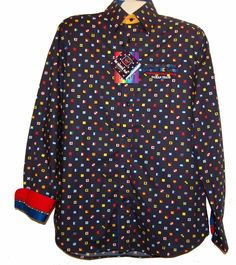 Paul & Shark Yachting AUTHENTIC Black Logo Men's Italy Shirt Sz L $365 #PaulSharkYachting #ButtonFront