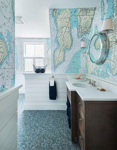 undefinedDesign,Interiors,House,Home,Interior Design,Bathroom,Wallpaper,5.24.16