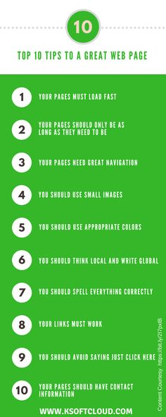 The ten tips will help you improve your pages and make them something your readers are interested in reading and passing on to others. #webdesign #webpage #tips  #webdevelopment