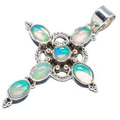 Ethiopian Opal Pendants handcrafted by Ana Silver Co - PD543030