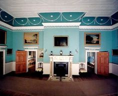 Mount Vernon dining room fireplace wall. - Google Search
