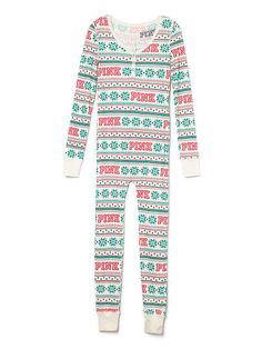 Victorias Secret PINK Onesie Pajamas Christmas Snow Medium -- Check out this . Cute Pjs, Cute Pajamas, Pajama Outfits, Cute Outfits, Pink Outfits, Onesie Pajamas, Pyjamas, One Piece Pajamas, Pink Nation