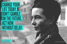 LIFE LESSONS / Simone De Beauvoir