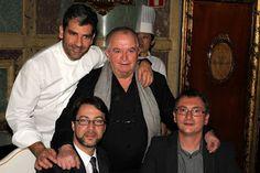 Paco Roncero, Juan Mari Arzak, Quique Dacosta, Andoni Aduriz (8 stars between them), Madrid Fusión 2012 Opening Dinner dedicated to Korea, Casino de Madrid, Jan 23 2012.   Photo by Gerry Dawes©2012 / gerrydawes@aol.com / www.gerrydawesspain.com