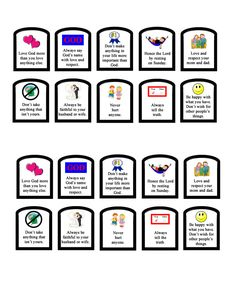 Simple 10 Commandments review craft for elementary age, preschool age kids. Sunday school lesson and ideas.