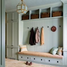 If you are going to use a Master Bedroom makeover as your next Bedroom decorating project, you will want to think carefully about what kind of decor and fixtures you need for your Mud Room. The Mud Room is a… Continue Reading → Flur Design, Design Design, Mudroom Laundry Room, Bench Mudroom, Small Lanterns, Entry Way Design, Built In Bench, Sweet Home, Entryway