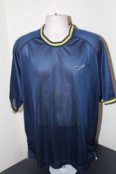 Nike men T-shirt  (L) blue short sleeve EUC #Nike