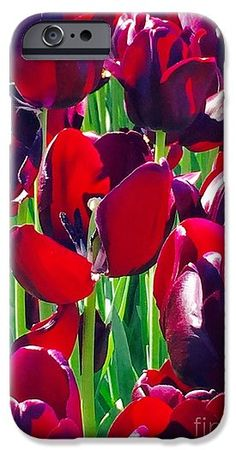 Purple Royals Tulips IPhone 6s Case featuring the photograph Purple Royals Tulips by Susan Garren