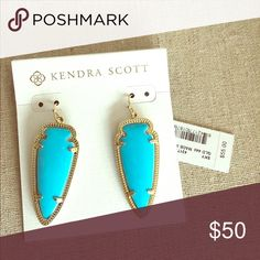 Kendra Scott Turqouise Sky Earrings New with tags Kendra Scott Jewelry Earrings