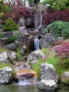 Japanese Gardens Waterfalls | ... Chu | all galleries >> MY FAVORITES > Japanese Garden Waterfall