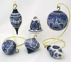 Delft DeWit handpainted Christmas ornaments