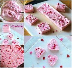 Creative Ideas - DIY Easy Delicious 2 Ingredient Strawberry Fudge