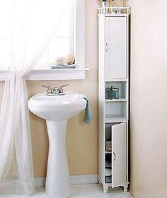 Cabinet Storage Slim Kitchen Pantry Bath Laundry Display Shelf 65 Tall Wood New