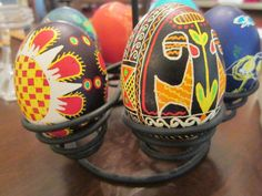 Ukrainian Easter eggs-- DIY #craftythings