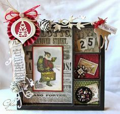 Scraps of Life: CropStop Guest Spot - Christmas Printer's Tray 7gypsies