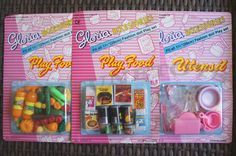 Sets FOR BARBIE 5+yrs old 2 GLORIA DOLL HOUSE FURNITURE Fridge Food 95022