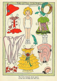 Vintage Paper Doll, Colonel by shelece, via Flickr