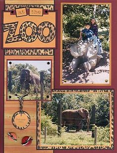 Zoo Part 1 - Shelley's Scrapbook Layouts -Awesome layout for older kids and adults