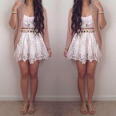 Crochet Cut Out Skirt @LookBookStore