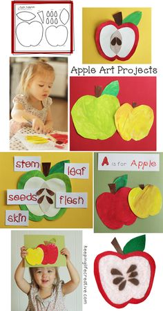 Apple art projects: one printable template, so many uses! $1
