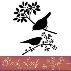 Inspiration for Wall Art free Perched Birds silhouettes by Black Leaf Design Studios via My Graphico #free #printable