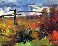 Bongart, Sergei - Rain Storm over Idaho; Russian master colorist/ large article on color and his painting process