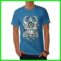 Illuminati Snake Fashion Men XXXXL T-shirt | Wellcoda - Animal shirts (*Amazon Partner-Link)