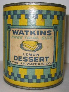 icollect247.com Online Vintage Antiques and Collectables - Watkins Lemon Dessert Sample Tin Unopened Advertising-Tins
