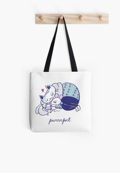 'Purrrfect dream' Tote Bag by Mari Ahokoivu