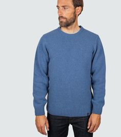 Fenten Crew Chunky Knitwear, Cotton Jumper, Mens Jumpers, Roll Neck, New Outfits, Cable Knit, Men Sweater, Man Shop, Wool