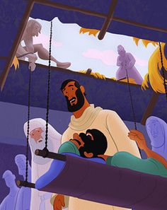 God's Unfolding Story for Older Preschoolers covers more than 100 Bible stories. Each lesson typically focuses on one story. Bible Activities For Kids, Sunday School Activities, Sunday School Crafts, Bible For Kids, Parables Of Jesus, Jesus Heals, Bible Illustrations, Preschool Curriculum, Bible Crafts