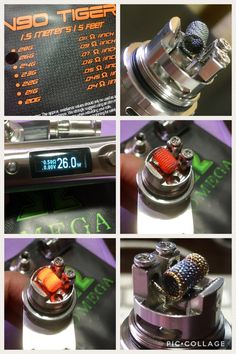1st try using a Tiger coil, 11 wraps, 26 gauge, 3.5mm, .50 ohms, 3.7v & a quick ramp up time...Sweet!