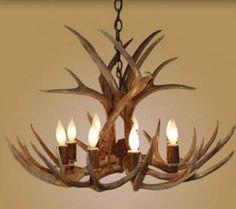 Beautiful antler chandeliers you can buy them at www antler chandelier 8 light large mule deer aloadofball Images