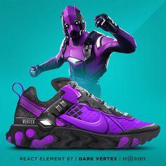 Behind The Scenes By clegfx Addidas Shoes Mens, Sneakers Nike, Sneaker Art, Sneaker Boots, Custom Sneakers, Custom Shoes, Cool Nike Shoes, Futuristic Shoes, Purple Sneakers
