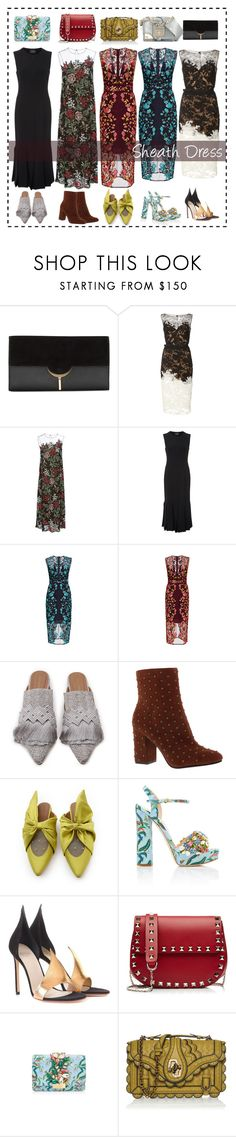 """Sheath Dresses"" by cherieaustin on Polyvore featuring Vince Camuto, Reem Acra, Alena Akhmadullina, Akris, Lela Rose, Lucky Brand, GEDEBE, Francesco Russo, Valentino and Versace"