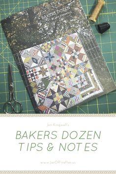 Getting started on Jen Kingwell's Bakers Dozen quilt