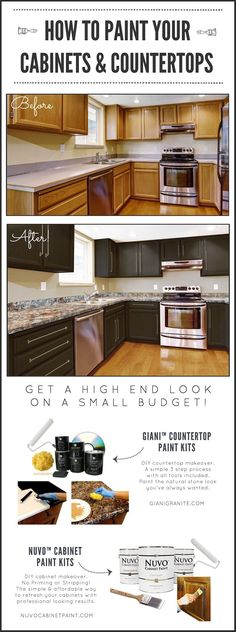 DIY Kitchen Makeover on a Budget. Before and After. Giani Granite Countertop…