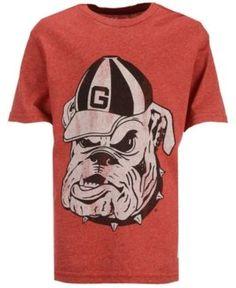Retro Brand Boys' Georgia Bulldogs Mock Twist T-Shirt - Red XL